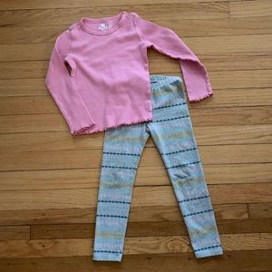 GAP outlet top and Cat & Jack leggings 4T